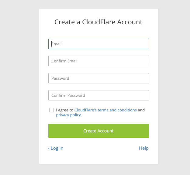 Cloudflare Sign Up